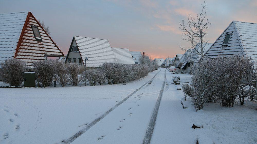 Ferienpark in Winterstimmung