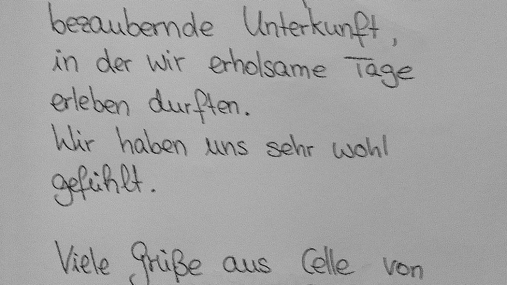 Ferienhaus Wiesenpieper - Gästebuch 11