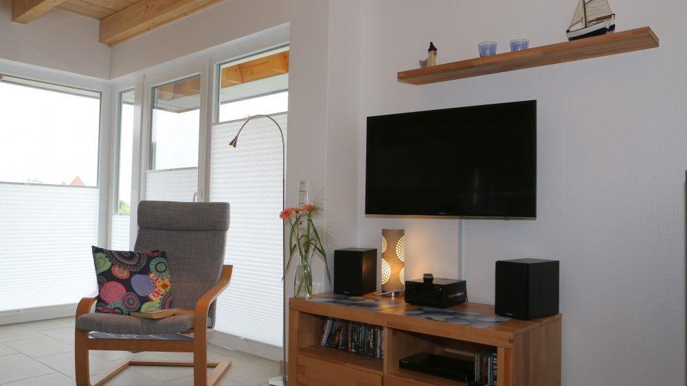 Ferienhaus Wiesenpieper - Wohnzimmer