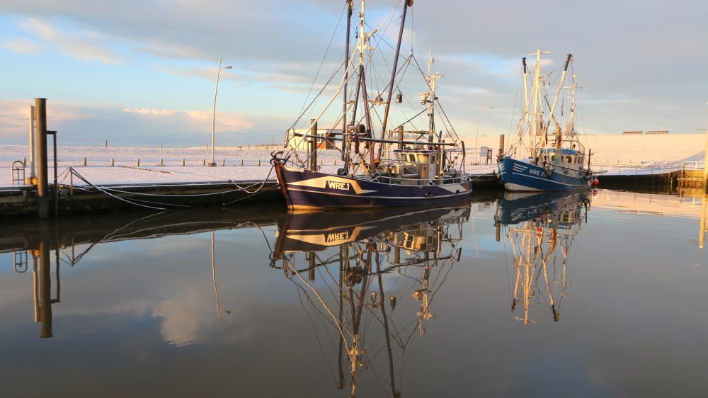 Winterliche Stimmung im Wremer Hafen