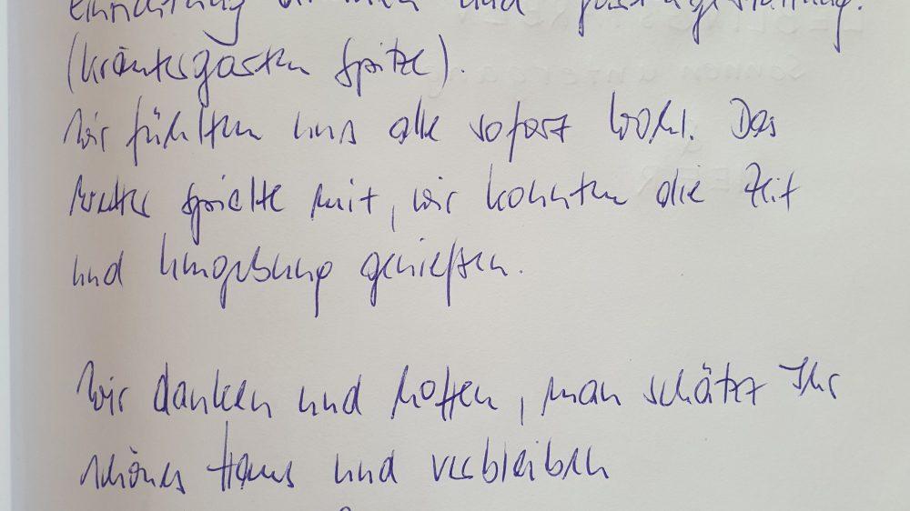 Ferienhaus Wiesenpieper - Gästebuch 13
